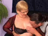 German Granny Fucked In Threesome By Handymen